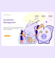 investment management website template vector image vector image