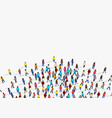 large group people on white background people vector image vector image