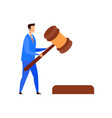 lawyer judge legal advisor character vector image vector image