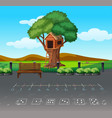 math game at playgound landscape vector image vector image