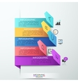 Modern arrow paper style step up options banner vector image vector image