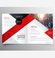 modern business bifold brochure design template vector image vector image
