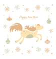 New Year card with a horse vector image vector image
