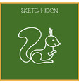 of zoo symbol on squirrel vector image
