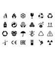 packaging symbols cartoon shipping transportation vector image