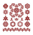 patterns and parts celtic knots set vector image