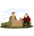 people abuse near gate conflict with neighbors vector image vector image