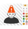 person heavy stress icon with bonus vector image vector image