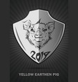 pig - a symbol of 2019 year yellow earth pig vector image