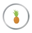 Pineapple icon cartoon Singe fruit icon vector image vector image