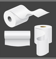realistic paper roll mock up set isolated vector image
