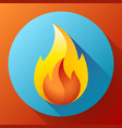 red fire flame icon logo vector image