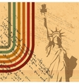 retro statue of liberty background vector image vector image