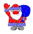 Santa Claus carrying sack vector image vector image