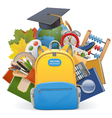 school concept with backpack vector image