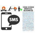 send phone sms icon with 1300 medical business vector image