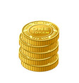 stack gold one token coin icon vector image