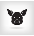 Stylized head of a pig on light background vector image vector image