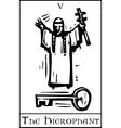 Tarot Card Hierophant vector image vector image