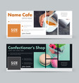 template banner for advertising a coffee house a vector image vector image