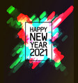 text 2021 happy new year vector image vector image