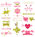 valentine and wedding graphic set vector image vector image