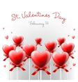 Valentines Day card with lollipops heart shaped vector image