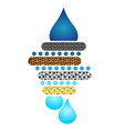 water filtration system circuit vector image vector image