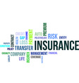 word cloud insurance vector image vector image
