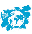 World Environment Day Emblem of Earth in grunge vector image