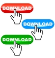 Download icons set vector image