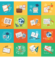 set of content of education or business banner vector image