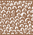 artistic seamless pattern with crowd of people vector image