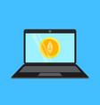 bitcoin laptop 1 vector image