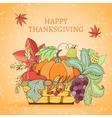 Thanksgiving holiday card vector image