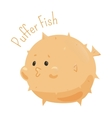 Puffer fish Child fun pattern icon vector image