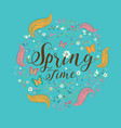 spring lettering spring background text vector image