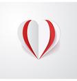 3d paper heart vector image vector image