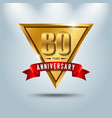 80 years anniversary celebration logotype vector image vector image