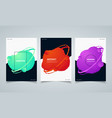 abstract circle colorful fluid geometric shape vector image vector image