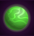 abstract green planet icon cartoon style vector image