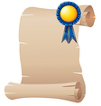 An empty paper with a blue ribbon vector image vector image