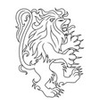angry lion sign vector image vector image