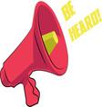 Be Heard vector image vector image