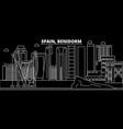 benidorm silhouette skyline spain - benidorm vector image vector image