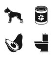 breed food and or web icon in black style vector image vector image
