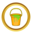 Bucket of paint icon vector image vector image