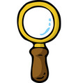 cartoon doodle magnifier vector image