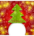 Christmas tree greeting card vector image