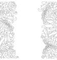 chrysanthemum outline flower border vector image vector image